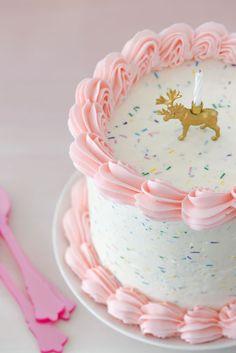 Reindeer Christmas Cake Pink with Sprinkles