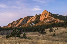 The Flatirons at sunrise from Chautauqua Park, Boulder, Colorado - Aaron Spong -  http://aaron-spong.artistwebsites.com