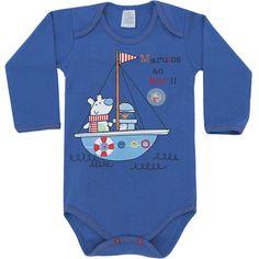 Body Bebê Menino Marujos ao Mar Azul - Patimini :: 764 Kids | Roupa bebê e infantil