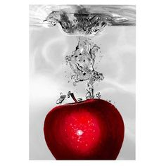Interesting piece! I pinned this Red Apple Splash Canvas Art from the Black & White & Red All Over event at Joss and Main!