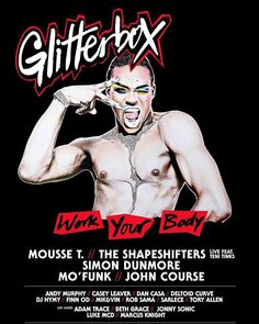 After a monumental debut Glitterbox returns to Melbourne for its encore featuring Mousse T The Shapeshifters (Live ft. Teni Tinks) Simon Dunmore Mo'Funk & John Course at Chasers.  Leading the charge in global clubbing Glitterbox parties bring the worlds most respected DJs to appear alongside emerging talents for a soundtrack that showcases dance music in its purest form.  The stage is set with dancers fierce performers and drag queens amongst a first-grade production to create truly… Drag Queens, Dance Music, Soundtrack, Dancers, Mousse, Melbourne, Dj, Stage, Parties