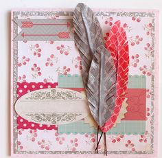 punk projects: Washi Tape Feathers