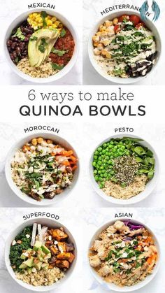How to Cook Quinoa | Recipe | Tasty vegetarian recipes, Vegetarian recipes, Healthy recipes - Dinner Ideas How to Cook Quinoa | Recipe | Tasty vegetarian recipes Vegetarian recipes Healthy recipes<br> Here are 6 easy recipes for healthy quinoa bowls! These make delicious vegan, gluten-free lunch or dinner ideas. They're also great for meal prep too! Dinner Recipes Easy Quick, Salad Recipes For Dinner, Healthy Pasta Recipes, Healthy Pastas, Quick Easy Meals, Seafood Recipes, Easy Recipes, Lunch Recipes, Dinner Healthy