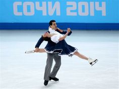 Anna Cappellini and Luca Lanotte of Italy compete during the Figure Skating Ice Dance Short Dance on day 10 of the Sochi 2014 Winter Olympics at Iceberg Skating Palace
