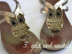 LOVE these owl sandals!