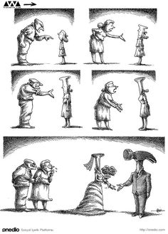 Iranian Cartoonist in Exile, Mana Neyestani& Anti-System 100 . Caricatures, Image Triste, Pictures With Deep Meaning, Meaningful Pictures, Satirical Illustrations, Deep Art, Social Art, Wow Art, Humor Grafico