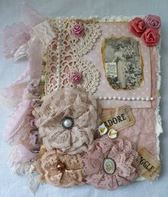 Tied Lace Handcrafted Victorian Collage Spiral Notebook | eBay