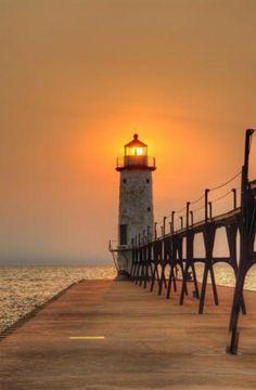 Manistee Pier Light, MI, USA