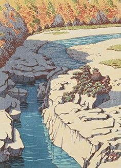 "Japanese Art Print ""Nezame Gorge (Kiso no Nezame)"" from the Series ""Selected Landscapes"" by Kawase Hasui. Shin Hanga and Art Reproductions http://www.amazon.com/dp/B00ZMW147O/ref=cm_sw_r_pi_dp_N7Rvwb15E9P2A"