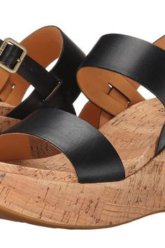 Kork-Ease Austin (Black) Women's Wedge Shoes - Kork-Ease, Austin, K39403-001, Footwear Open Wedge, Wedge, Open Footwear, Footwear, Shoes, Gift, - Street Fashion And Style Ideas