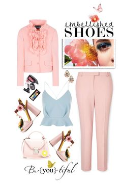 """""""Magic Slippers: Embellished Shoes"""" by shortyluv718 ❤ liked on Polyvore featuring Miss Selfridge, River Island, Marc Jacobs, Mark Cross, Boutique Moschino, Dolce&Gabbana, NYX, Sole Society and embellishedshoes"""
