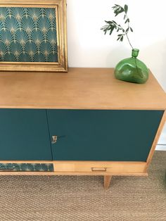 Solid with paint, Tiny pattern, still wood showing Desk Recycled Furniture, Retro Furniture, Furniture Projects, Furniture Makeover, Painted Furniture, Home Furniture, Furniture Design, Oak Interior Doors, Vintage Sideboard