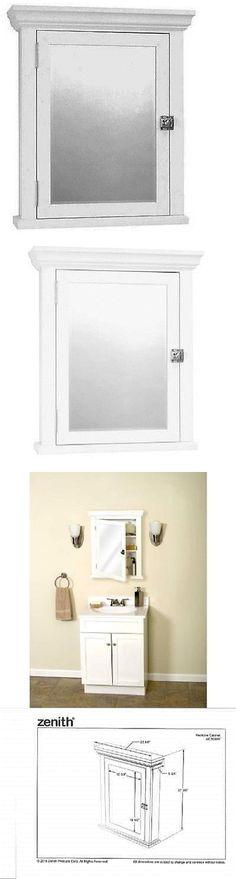 Zenith Bathroom Mirror medicine cabinets 176991: wall mount storage cabinet mirror double