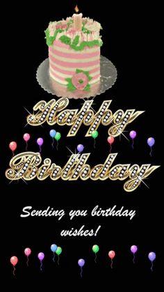 Sending you birthday wishes! via GIPHY cake, balloons, heart, gold, diamond Birthday Wishes Gif, Birthday Board, Man Birthday, Birthday Greetings, It's Your Birthday, Happy Blessed Birthday, Happy Birthday Dear Friend, Happy Birthday Quotes, Happy Birthdays