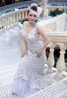 crochet+wedding+dress+pattern | Dresses, Crochet Wedding Dresses: Knitted crochet wedding dresses ...