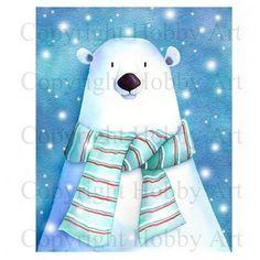 Hobby Art - Cling Stamp - Polar Bear