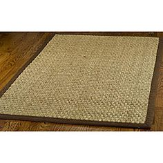 Safavieh Casual Natural Fiber And Brown Border Seagr Rug 9 X 12 By