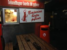 declared the best hotdog in Europe - this stand serves the Icelandic national snack
