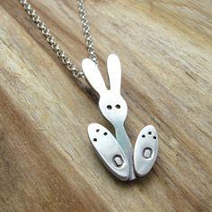 Sterling Silver Bunny Rabbit Necklace  Bunny by JewelleryFurKeeps, £45.00