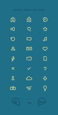 Minimal single line icons by Tom Pennington, via Behance