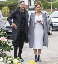 Mumy's boy: Mario Falcone was spotted out with pal Ferne McCann on Monday morning sweetly . Mario Falcone, Ferne Mccann, Monday Morning, Celebrity Style, White Dress, Normcore, Celebs, Salad, Style Inspiration