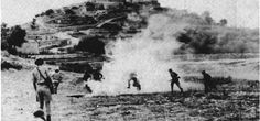 Deir Yassin Massacre – April 9, 1948   Occupied Palestine   فلسطين Irgun, Lehi and Haganah Zionist terror gangs attacking Deir Yasin.Michael Chertoff Homeland Security came from HAGANAH Army family, Raul Emanuel, Obama's Aide, came from IRGUN/ Stern Gang - the men are heroes in Israel because they founded the nation.