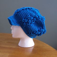 Ravelry: DarleenHopkins' Braided Hat test donated to Halos of Hope 2011 charity crochet chemo hat #halosofhope