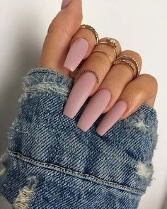 Exposed from (topped with their matte top coat) comes in regular or gel polish, and also dip powder Matte Nail Art, Matte Black Nails, Coffin Nails Matte, Cute Acrylic Nails, Purple Nails, Glue On Nails, Gold Nails, Oval Nails, White Nails