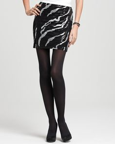Sequin Zebra Skirt