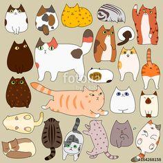 ベクター: cute cats posing doodle set点 Tap the link for an awesome selection cat and kitten products for your feline Cute Cat Illustration, Cat Illustrations, Cat Doodle, Cat Aesthetic, Cat Pose, Cat Crafts, Fluffy Cat, Cat Drawing, Cat Memes