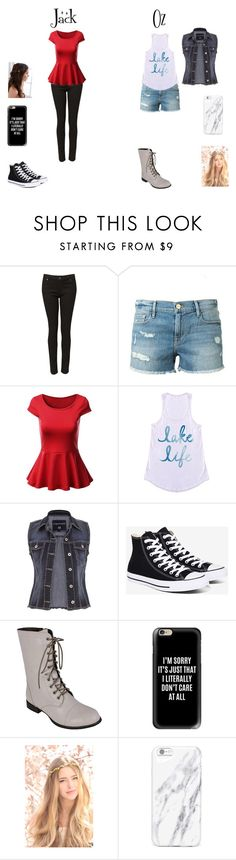 """""""oz and jack"""" by alex-hayze on Polyvore featuring Witchery, Frame Denim, maurices, Converse, Reneeze, Casetify and REGALROSE"""