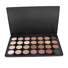 Stylish 28 Color Neutral Warm Nude Eyeshadow Palette Eye Shadow Makeup *** Check out @