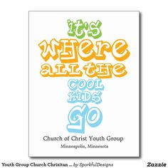 Youth fellowship church program church print templates pinterest youth group church chrisitan postcard card invite stopboris Images