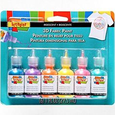 SCRIBBLES 18536 Dimensional Fabric Paint, Iridescent, 6-Pack, 1 oz Review