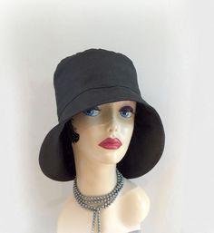 Rain Hat Shower Proof Cloche Rain Wear Stylish by TheWaughdrobe Wide-brim  Hat 6ddae0124508