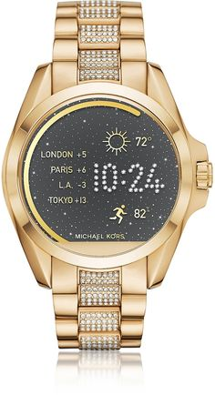 Michael Kors Gold-tone PVD Stainless Steel Bradshaw Women's Smartwatch