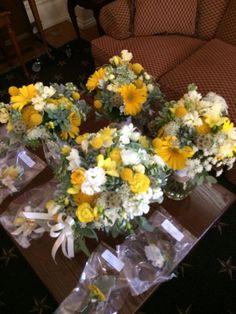 rustic yellow wedding flowers | Wedding flowers| rustic| vintage| wildflowers| mustard yellow ...