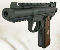 Bilderesultat for ruger mk II trigger guard mount tactical red dot sight