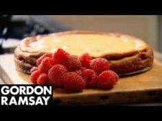 Baked Raspberry and Lemon Cheesecake - Gordon Ramsay  Butter, for greasing 550g cream cheese, at room temperature 160g caster sugar 3 eggs, lightly beaten 2 tbsp plain flour Finely grated zest of 1 lemon 200g raspberries