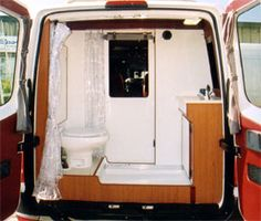 Very roomy rear bathroom - Sportsmobile Sprinter