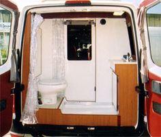 Very roomy rear bathroom - Sportsmobile Sprinter