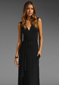 FEEL THE PIECE Long Wrap Dress in Black at Revolve Clothing - Free Shipping!