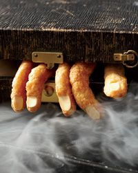 Spicy Cheddar Witch Fingers // More Cheesy Recipes: http://www.foodandwine.com/slideshows/cheese  #halloween #foodandwine