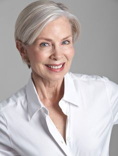 Mature women - Great haircut for fine hair- I like how the hair stands up a little at the part