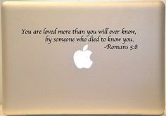 Macbook Romans 5:8 Bible Verse Decal Mac Laptop - cute-tattoo.com