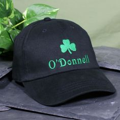 Shamrock Embroidered St. Patrick's Day Irish Hats Your beautiful Irish Princess will look fabulous when she dons her stylin' Personalized Irish Princess Hat. A great accessory for enjoying the Saint Patrick's Day parade, a walk along the beach or enjoying a ball game with family and friends. This stunning black cap with fine quality embroidery is the perfect hat for wearing at the gym as well. Your Embroidered St. Patrick's Day Hat is available on our premium black