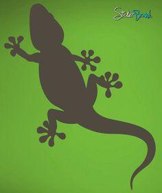 Vinyl Wall Decal Sticker Gecko Lizard #451 | Stickerbrand wall art decals, wall graphics and wall murals.