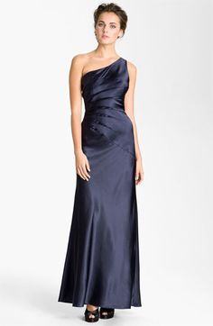 Adrianna Papell 'Sunburst' One Shoulder Satin Gown available at #Nordstrom