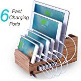 Amazon.com: [PowerPort 60W/2.4A Max] UNITEK 10-Port USB Charger Charging Station for Multiple Device with SmartIC Tech, Organizer Stand for Apple iPad iPhone Samsung Galaxy Google Nexus LG HTC: Cell Phones & Accessories