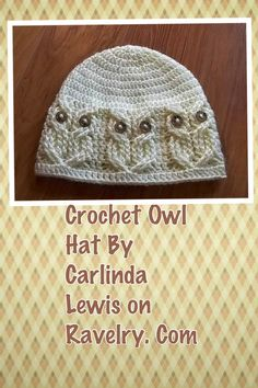 Cute Crochet Owl Hat on Ravelry.com